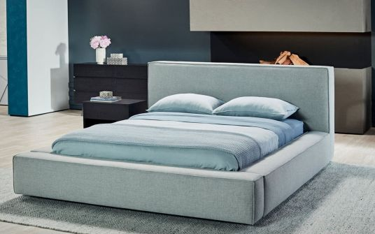 Cora fabric king and queen bed frame