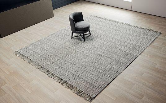 Abbar grey handwoven rug