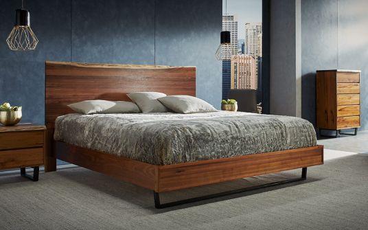 Bartolo live edge blackwood bed frame