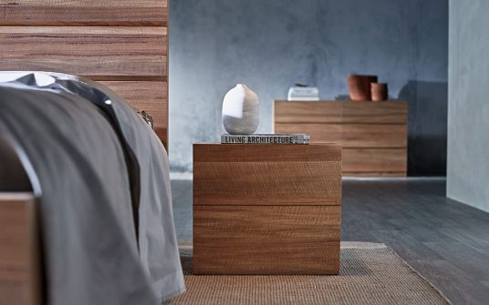 Byron timber bedside table