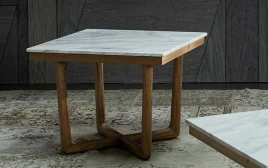 Carlina marble side lamp table