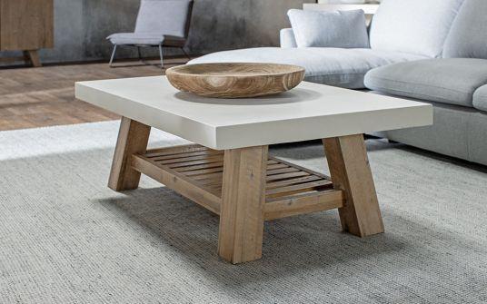 Cooper rectangular concrete coffee table