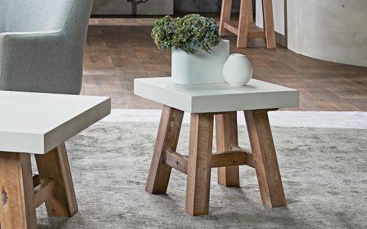 Cooper square concrete side table