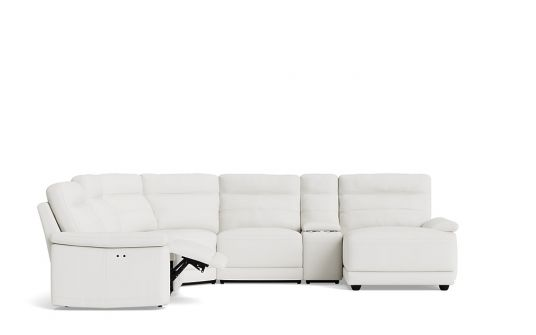 Kylie left facing corner modular + console + right facing chaise