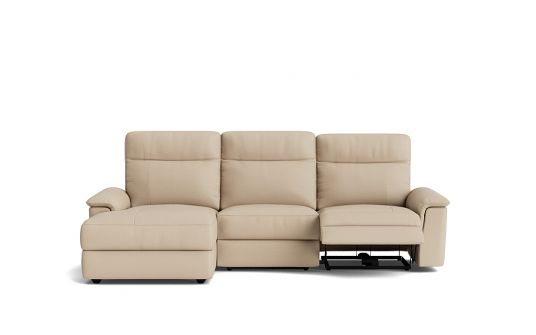 Julio 2.5 seat electric recliner + left facing chaise
