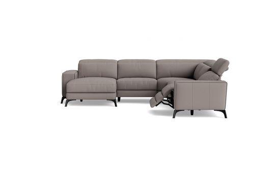 Vitorio 2.5 seat electric recliner + headrest + corner + left facing chaise