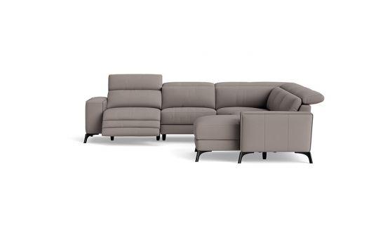 Vitorio 2.5 seat electric recliner + headrest + corner + right facing chaise