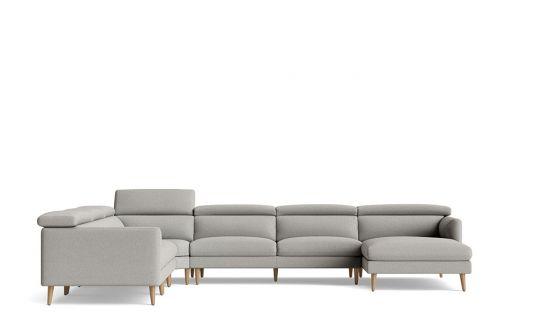 Nakeeta left facing corner modular + right facing chaise