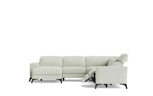 Luigi 2.5 seat electric recliner + headrest + corner + left facing chaise