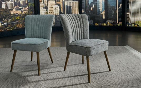 Diego & Cally Fabric Dining Chair