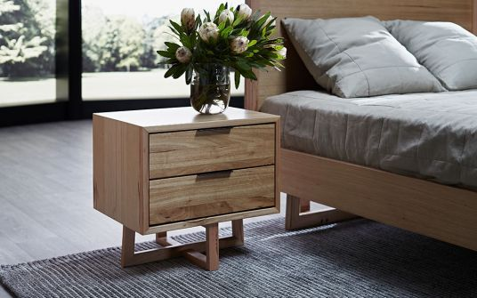 Padrone timber bedside table