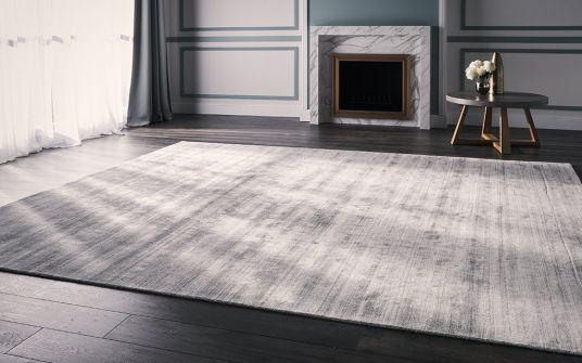 Perlato grey loom knotted rug