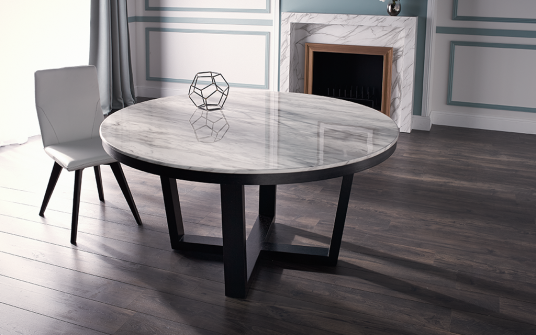 Provence Round Marble Dining Table