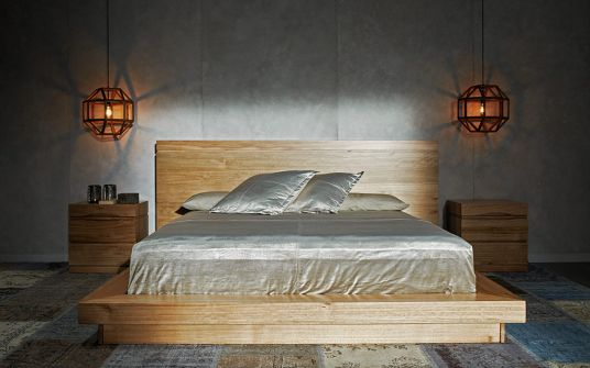 Springfield South American eucalyptus timber bed frame