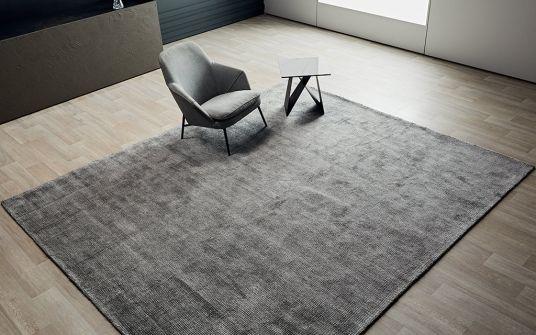 Zain frost grey hand woven rug
